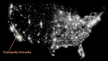 Light Pollution Map Of The Us