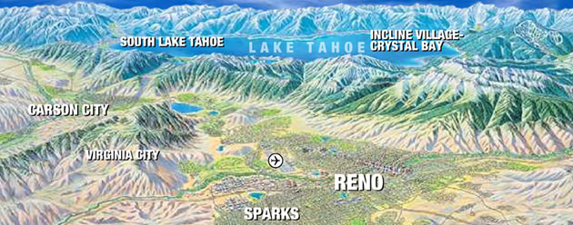 Perspective view of Reno Area